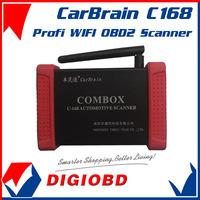 Profi WIFI OBD2 OEM CarBrain C168 Scanner Bluetooth Update By Email C-168 wireless automotive fault diagnostic scanner