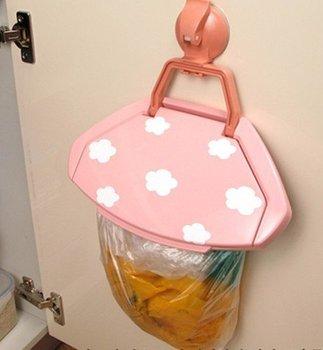 Portable Foldable Kitchen Door Back wall trash Garbage Bag hanger holder Rabbish Hook can Home CN post