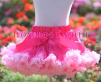 PETTISKIRTS girls bright light pink chiffon ruffle fluffy petticoats kids tutu skirts baby mini dress