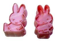 Free shipping,2pcs Rabbit shape Cookie Cutter set