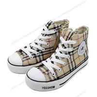 new style lattice shoes boy girl england style kids canvas shoes wholesale baby boots size 25--37