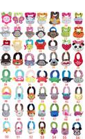 3 Pieces/Lot--100% cotton cartoon Animal style infant Burp Cloths/Baby bib/Infant modeling cotton bibs/waterproof bibs
