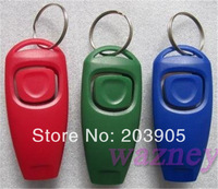 3000pcs/lot *Dog whistle - 2 in 1 Clicker whistle Pet Training Obedience- Pet Trainer whistle  Combination Trainer repeller Aid