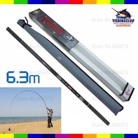 6.3M length fishing rod 2011 NEW fashion 12 section ,fishing pole fishing rods SG13 wholesale price