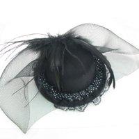 Face veil Black fascinator hat NEW burlesque feather