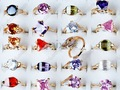Free shipping Wholesale mix lot 25pcs created cubic zirconia ring rings jewellery fashion ring jewelry rings[CZ36*25]