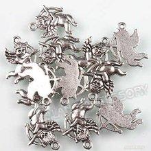 150pcs lot New Charms Alloy Antique Silver Pendant Love God Cupid Dangle Fit European Necklace Bracelet