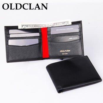 OLDCLAN Free Shipping + Bi-fold Men's Wallet + Classic Wallet + Leather Bifold Wallet Purse