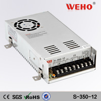 (S-350-12)Metal case Cooling Fan 350W switching power supply DC 12V 350w power supply