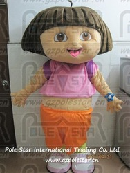 dora costume, happy face dora mascot(China (Mainland))