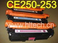 HOT Selling !!! Color Toner Cartridge CE250A,CE251A,CE252A,CE253A compatible HP CP3525 4pcs/Lot