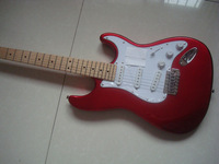 Big sales RED stelectric guitar free shipping Bigger headstock MAPLE neck