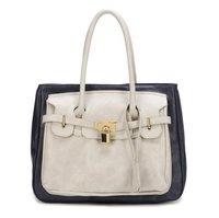 IN Fashion Acients Chain&Key Simple Colour Handbag Shoulder bag Tote bag