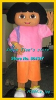 Dora The Explorer mascot costume Christmas Cartoon Costume Character for Adult Free shippping