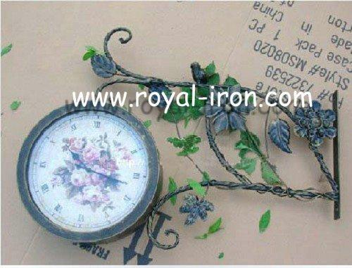 Radiation protecting,professional making,anti-rust,European antique wrought iron hang clock,metal clock,factory direct sales(China (Mainland))