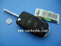 High quality VW 3 buttons remote key shell,car key blank