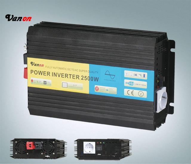 2500W Pure Sine Wave Power Inverter (5kw peak power,110V/220VAC) Free shipping(China (Mainland))