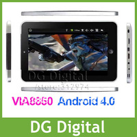 Cheap 7inch android 4.0 MINI PAD EP07 VIA 8850 Camera Flash player support 4GB Tablet PC MID Umpc WiFi +Drop ship