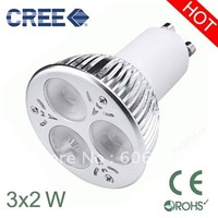 6W dimmable GU10 led light