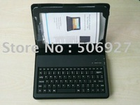 Free Shipping!! New leather case with bluetooth keyboard for Sumsung Galaxy Tab  P1000