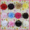 Free shipping!2.5'' New satin mesh flowers