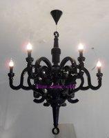 Free Shipping Hot selling Holand 6 Light Moooi Paper Chandelier Pendant Lamp By Studio Job 70cm+Blcak