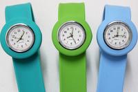200pcs/lot Top Sale High Quality silicone slap watch, kid slap watch children watches 16 colors simple plastic bag packaging