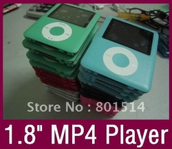 "Discount promotion Brand New 16GB MP3 MP4 Player 6 colors 1.8"" TFT FM radio Gift:silicone case for ipod NANO(China (Mainland))"