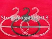 200pcs/Lot Free EXPRESS Transparant & Black Round Plastic Scarf Hanger Tie Hanger Belt Hanger