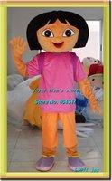 Newest Version Light adult dora costumes Mascot Costume robot Cartoon Mascot Character Costume Free Shipping