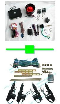 1 pcs one way car alarm L-3000 4 button remote range:100 meter + 1 pcs central lock TLT-4D-111-W