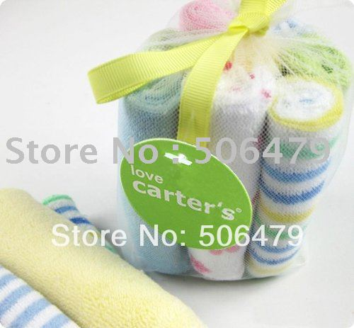 Free ship Wholesale 80 pcs/lot 100% cotton Toddle / Infant washcloth baby feeding washrag face Baby towels(China (Mainland))