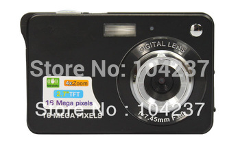 2014 the new digital camera    2.7 screen ,18mp   4x digital  zoom  k09  good quality  3  color  freeshipping for Singapore post