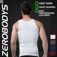 100pcs ZEROBODYS Incredible Mens Body Shaper Firming Panels 140D Vest 107 WH Bodysuit for Men Men's Slimming Body Shaper Cueca