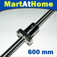 2pcs/lot MAH Anti Backlash Linear Ball Screw RM 1605-600mm-C7 XYZ CNC with nut and end machined #SM117 @SD