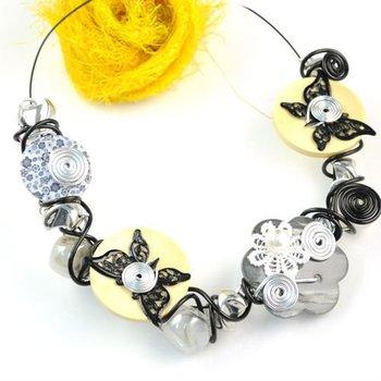 free shipping , handmade beaded collar choker necklaces ,nl-1307