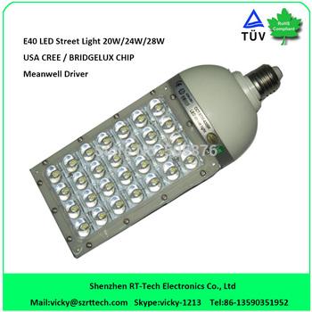 DHL Free Shipping led street light e40 30w/28w