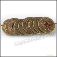 150pcs/lot Vintage Chinese Coins Charms Pendants Beads Art Collection 24x24x1.5mm 160373