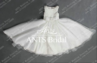 New Fashion Cute Promotion Lovable Sleeveless Lace Organza Baby Flower Girl Dress 2013 FL169