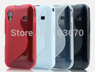 For Samsung Galaxy Ace S5830 Silicone Gel TPU Case S Line Soft Back Cover Skin Case, Free Shipping 10pcs/lot(China (Mainland))