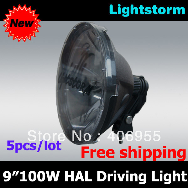 Free shipping! High quality! 5 pcs/lot 240mm 9 inch 100w halogen offroad driving light , 4wd offroad truck fog lamp(China (Mainland))