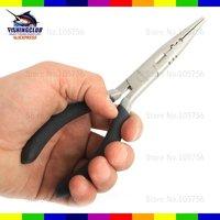 puller,tongs,functional pliers nippers Gear Steel Fishing Curved Plier Hook /Leader Cut tackle QZ10  wholesale