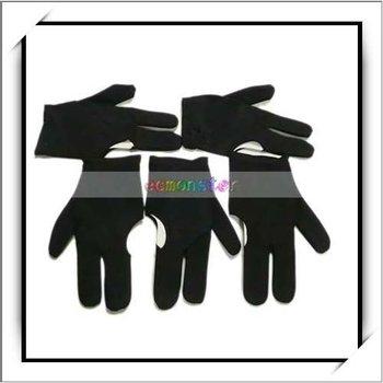Free shipping 10bags/lot Billiards Pool Table Glove/Snooker Gloves/Billiard Gloves Black(5pcs per lot)-J7414BL