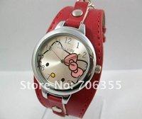 HELLO KITTY WATCH Leather Watch Wrist watch fashion Quartz WATCH  10pcs