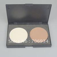 Professional 2 Colors Pressed Powder Repair capacity powder 3/packet Brown/White