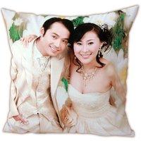Custom Personalized ur photo throw pillow cushion case single side print 40*40cm EMS to USA