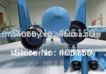 No Battery, RC Plane Model Su34 Blue Camo with 360 Vectored Thrust nozzles RTF