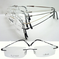 Wholesale 76127 constitute bendable beta titanium rimless supper lightweight prescription eyeglass frames fast and free shipping