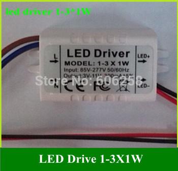 1-3*1W Ceiling Light Power Supply 1W 2W 3W LED External Drive Power LED Power Driver 300MA 10pcs