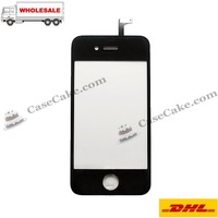 Black or white  Replacement LCD Touch Screen for iPhone 4 Touch Screen Glass Digitizer Replacement  60PCS/Lot + Free shipping